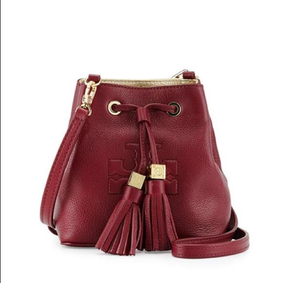 d863b72afbb4 Tory Burch Thea Mini Crossbody Bucket Bag. M 5c3a2d8a951996b02a7ff3e6